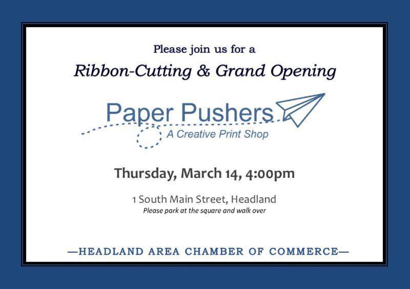 2019 03 14 Grand Opening Paper Pushers