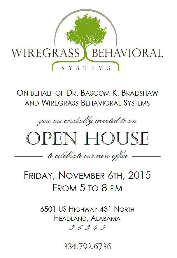 Grand Opening - Wiregras Behavioral