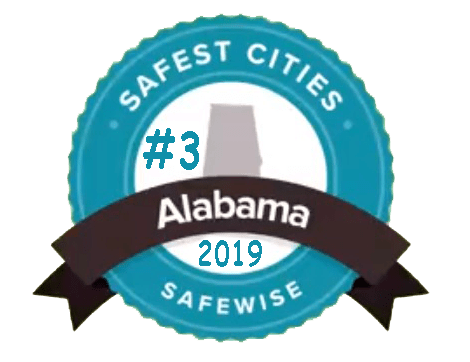 Safest Cities in Alabama Badge
