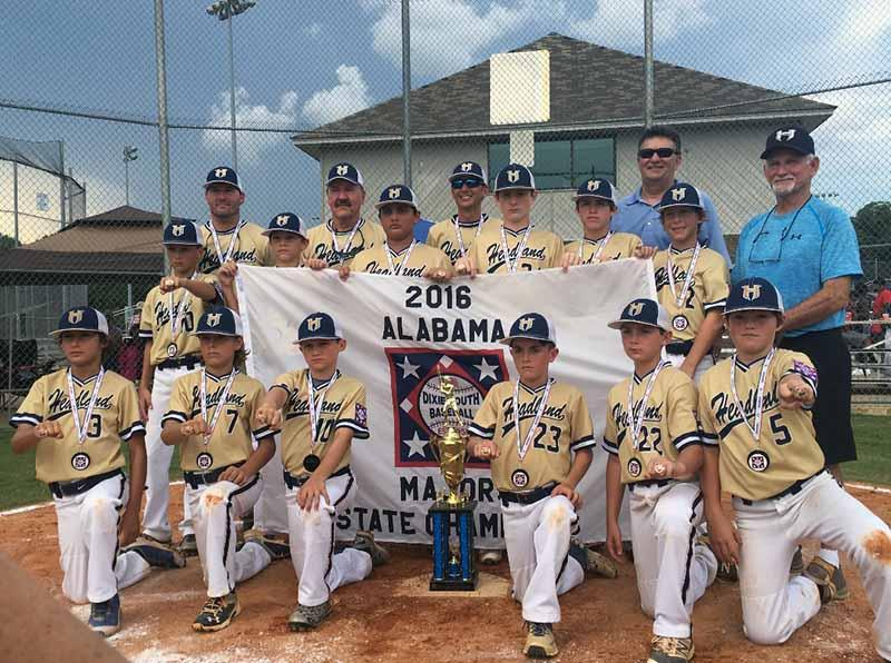 2016 headland all stars dixie youth majors world series champs