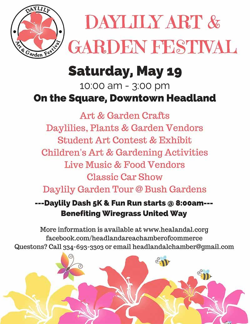 2018 Headland Daylily Art and Garden Festival flyer