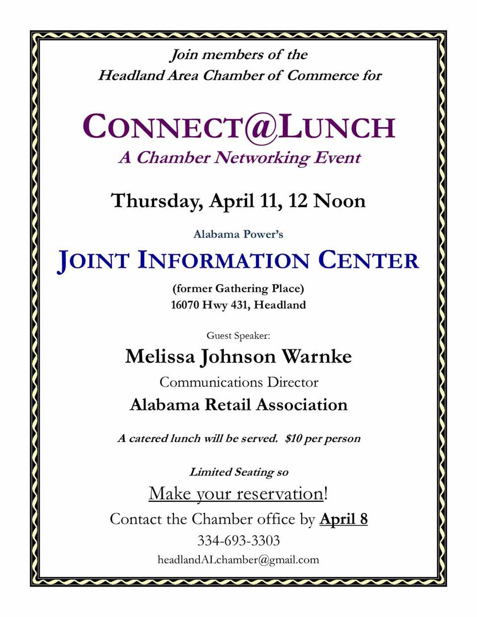 2019 04 11 HCoC Connect at Lunch Joint Information Center