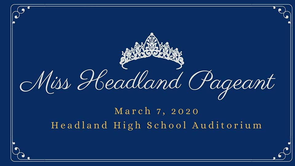 2020 03 07 miss headland pageant announcement